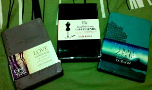 Three books from hubby! (pre-Valentine gift!) :)