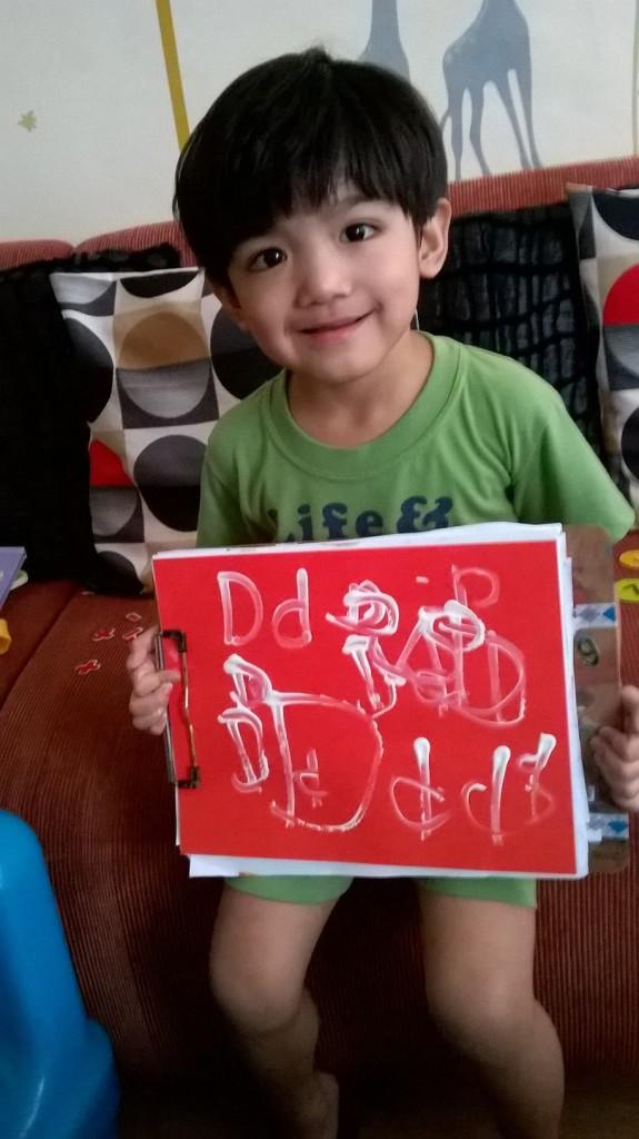 Practicing letter D. :)